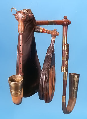 Front view of Bohemian bagpipe