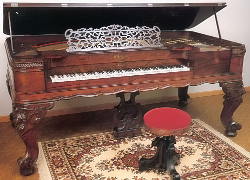 NMM 2673. Square piano by William Knabe and Co., Baltimore, 1891