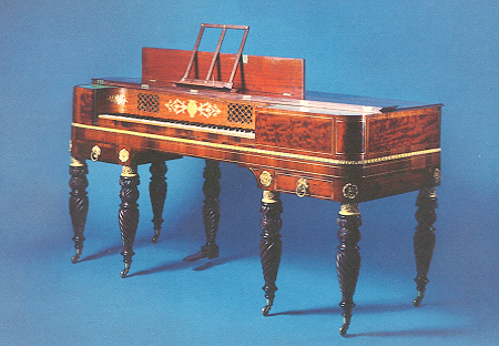 NMM 2864. Square piano by John Kearsing, 