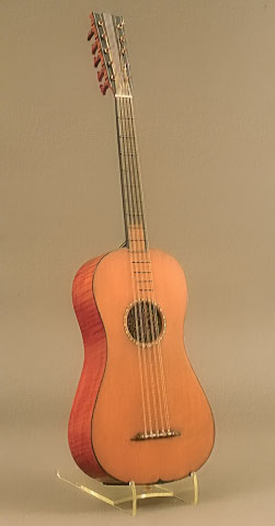 NMM 3976. Guitar by Antonio Stradivari, 1700