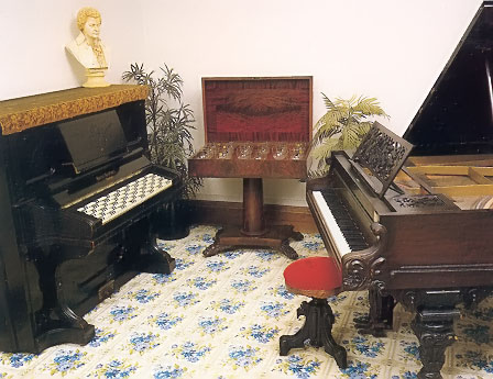 Janko Piano, Musical Glasses, and Chickering Grand Piano