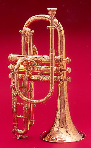 NMM 4572.  Cornet by C. G. Conn, Elkhart, Indiana, 1883