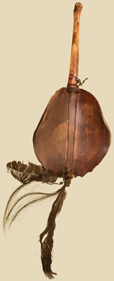Turtle shell dance rattle, Iroquois Nation, Northeastern North America, late 19th century