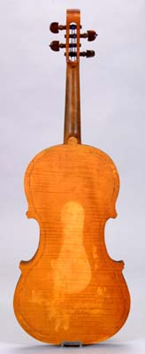 Back view of Hutchins viola