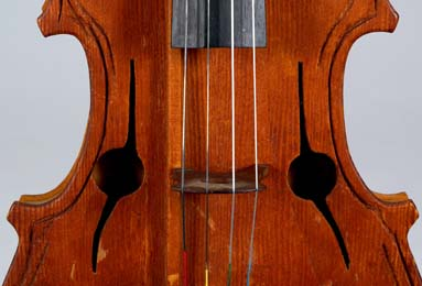 Soundholes of Hutchins viola