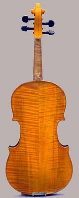 Back view of Hutchins violin