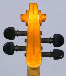 Back of pegbox on Hutchins violin