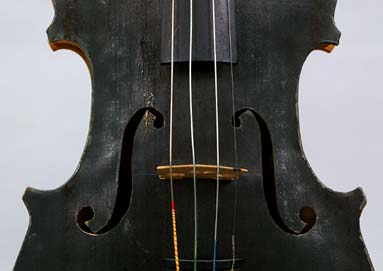 Soundholes of Hutchins violin