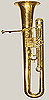 NMM 5261.  Baritone trombacello in B-flat by Graves & Co., Winchester, ca. 1842-1848.