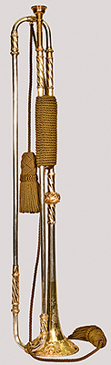 NMM 5071. Natural trumpet by Ernst Johann Conrad Haas, Imperial City of Nuremberg, 1765.