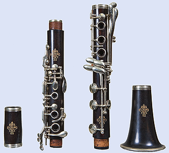 Front of Leblanc clarinet, disassembled