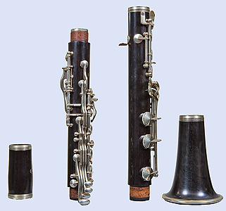 Right side of Leblanc clarinet, disassembled