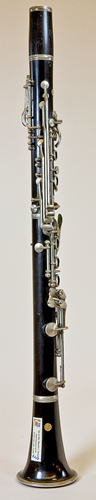Right side view of Noblet clarinet