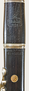 Maker's stamps on Noblet clarinet