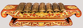 A saron demung from the Kyai Rengga Manis Everist Gamelan