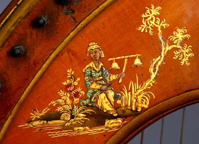 Chinoiserie on Naderman harp