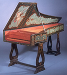 NMM 5055.  Grand piano by Manuel Antunes, Lisbon, 1767