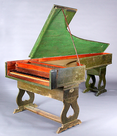 NMM 6204.  Harpsichord by Jose Calisto, Portugal, 1780
