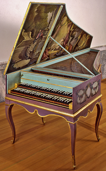Harpsichord by Jacques Germain, Paris, 1785, at the ...