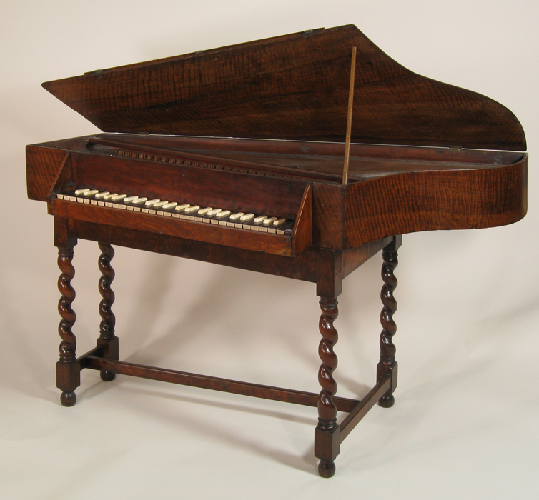 Spinet by charles haward london 1689 at the national for Small piano dimensions