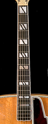 D'Angelico guitar fretboard