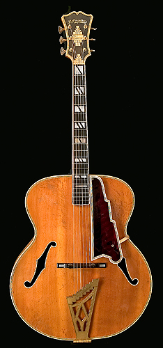 Front of D'Angelico guitar