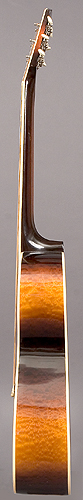 Treble side of guitar