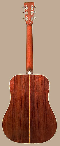 Back of Martin D-28 guitar