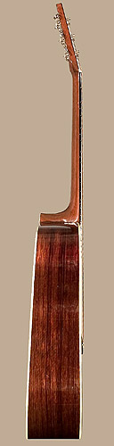 Bass side of Martin D-28 guitar