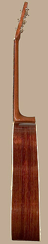 Treble side of Martin D-28 guitar