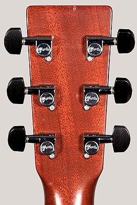 Back of Martin guitar peghead