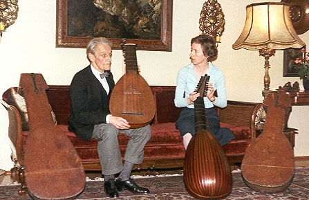 Carl Des Fours Walderode and his wife, Johanna Kammerlander, in 1979