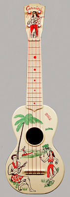 NMM 14441. Ukulele by Carnival Toy Mfg. Corp., New York City, ca. 1950-1963.