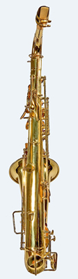 Back view of Sax alto saxophone