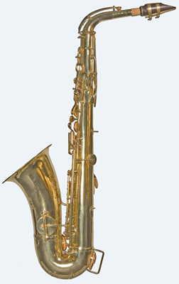 Side view of Sax alto saxophone