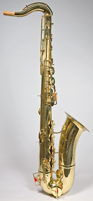 tenor saxophone by adolphe sax  paris  1872  at the national music museum