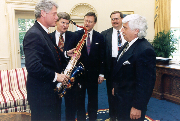 Presidential Saxophone from the National Music Museum