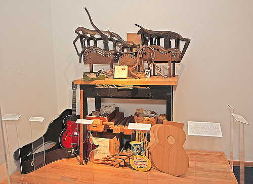 Harmony company tools, patterns, and related items on exhibit at the NMM