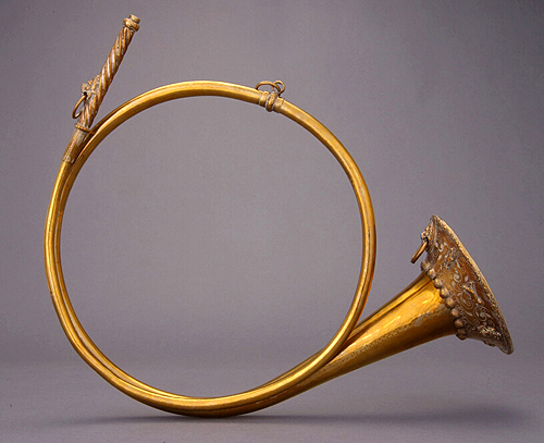 NMM 7459.  Natural horn in F by Johann Carl Kodisch, Imperial City of Nürnberg, 1684.