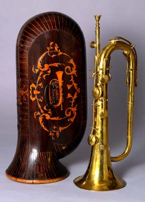 NMM 10002. Keyed bugle by Charles-Joseph Sax, Brussels, ca. 1840.  Andr� P. Larson Acquisitions Fund and other funds given in memory of Joe R. Utley (1935-2001).