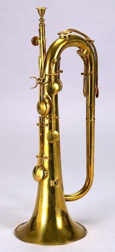 Keyed bugle by Charles-Joseph Sax, Brussels, ca. 1840.