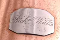 Owner's signature engraved on NMM 7312