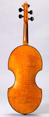Back of violin by Johann Georg Stauffer, Vienna, December 1826.