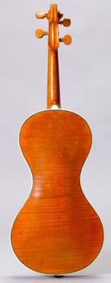 Back of Chanot violin