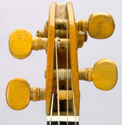 Front view of Chanot violin pegbox