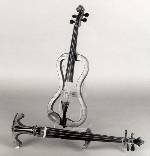 Front:  NMM 1300. Violin (mute), England, ca. 1850-1900.