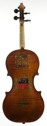 Back of violin