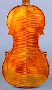 NMM 4548. Back of Stainer violin.