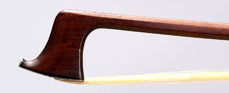 NMM 3408.  Violin bow attributed to Christian Wilhelm Knopf, Markneukirchen, ca. 1828-1837.