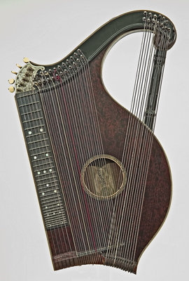 Zither by Franz Schwarzer, Washington, Missouri, ca. 1891-1920